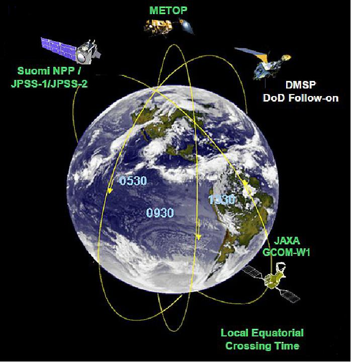 NOAA Satellite Missions EoPortal Directory - Noaa world satellite map