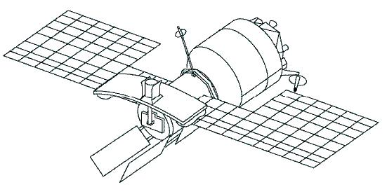 Weather Satellite Drawing Figure 3 Line Drawing of The