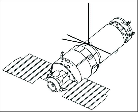 Satellite In Space Drawing